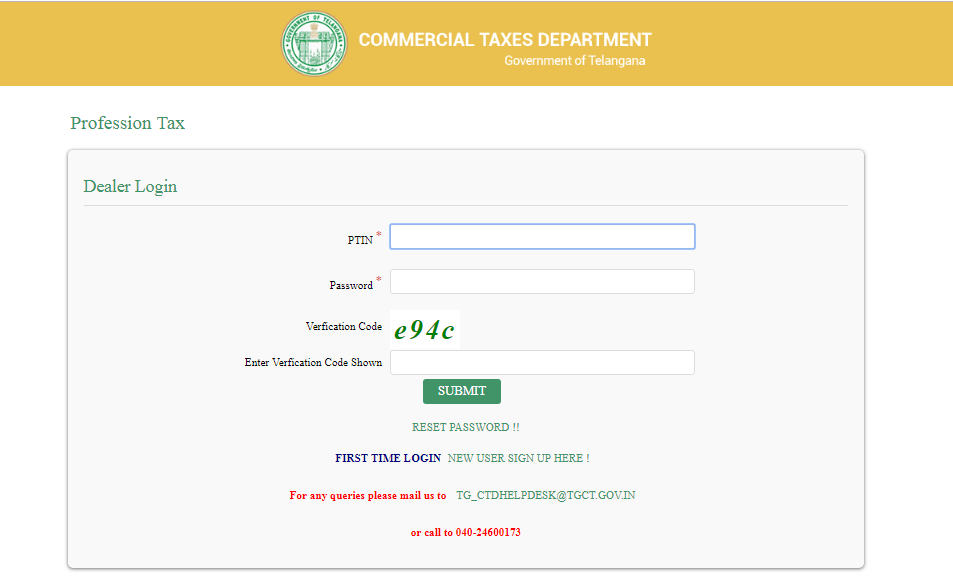Step 4 Telangana Professional Tax