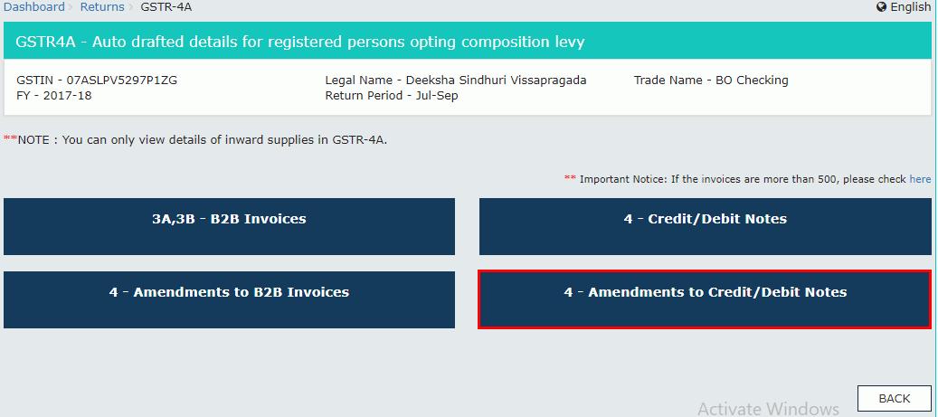 4- Amendments to Credit or Debit Notes Tile