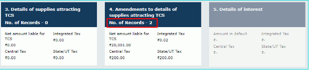 4.Amendments to details of supplies attracting TCS