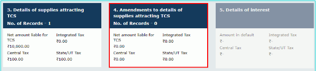 Amendment to details of supplies attracting TCS