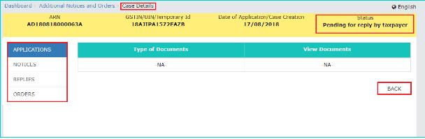 Case detail