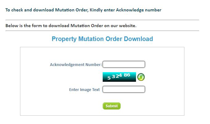 Download Mutation Order - Mutation of Property in Uttar Pradesh