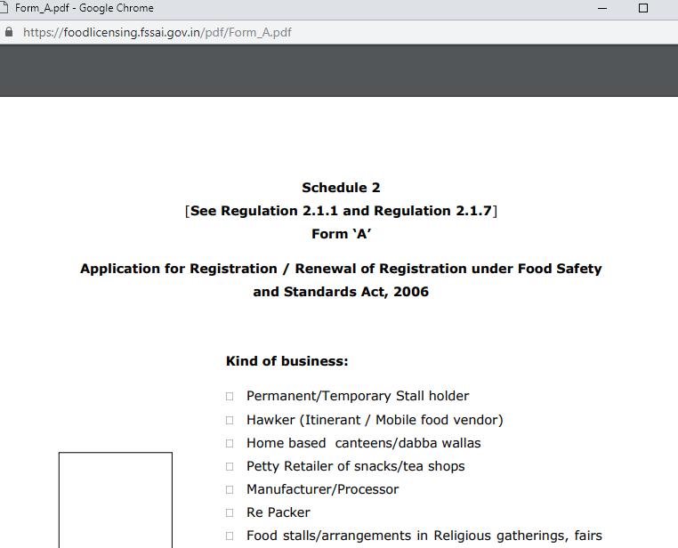 FSSAI License in Tamil Nadu - Eligibility & Application