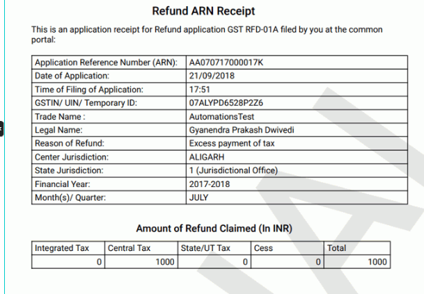 GST Refund –Excess Payment of Tax - Image 12