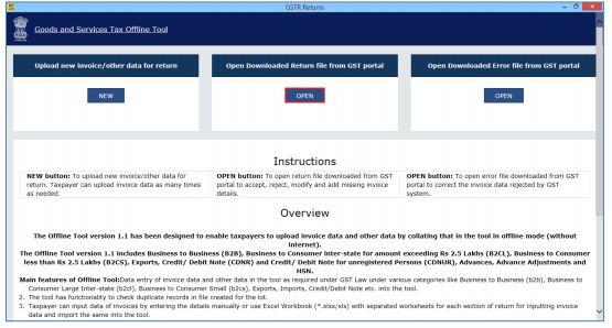 Image 1 Export to Excel Feature in Return Offline Tool