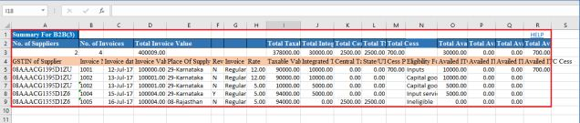 Image 11 GSTR 2 Filing using Returns Offline Tool