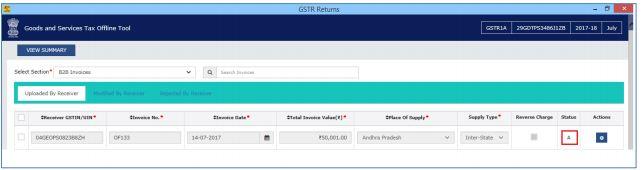 Image 11 Modifying GSTR 1A Return