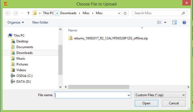 Image 2 Export to Excel Feature in Return Offline Tool