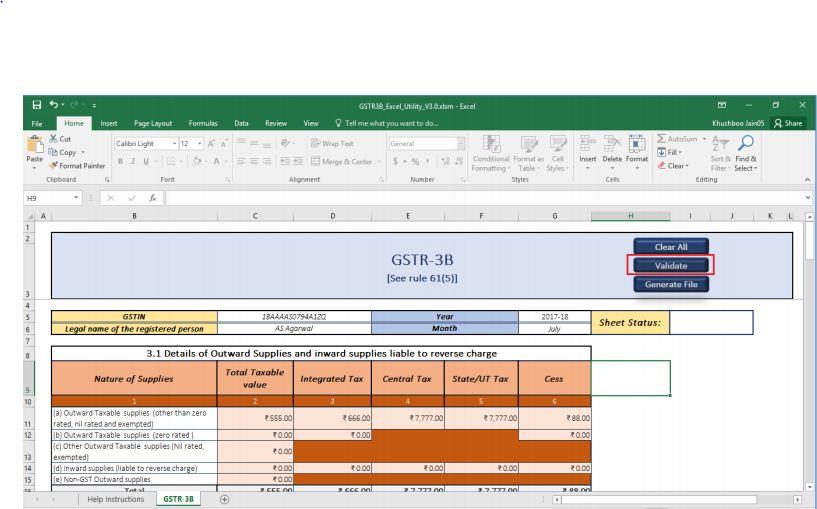 Image 21 GSTR 3B Offline Utility