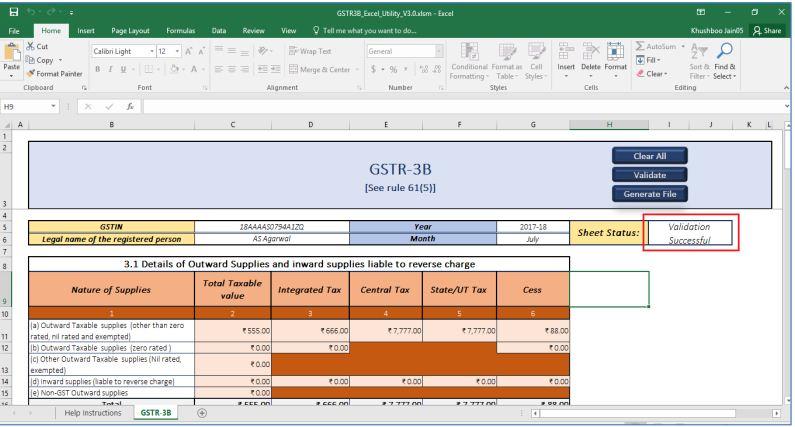 Image 23 GSTR 3B Offline Utility