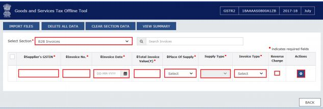 Image 3 GSTR 2 Filing using Returns Offline Tool