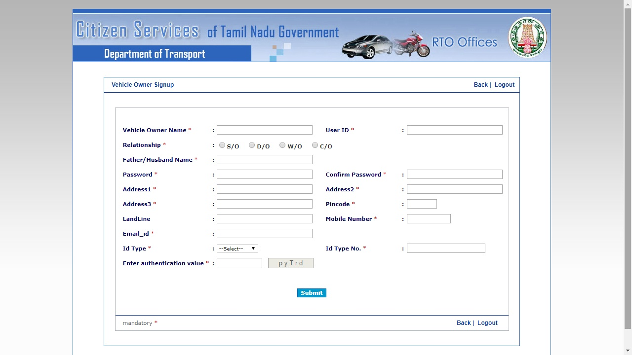 Tamil Nadu Vehicle Tax - Rate & Payment Procedure - IndiaFillings