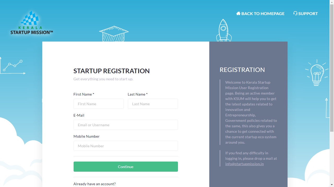 Kerala Startup Mission (KSUM) - Schemes Details - IndiaFilings