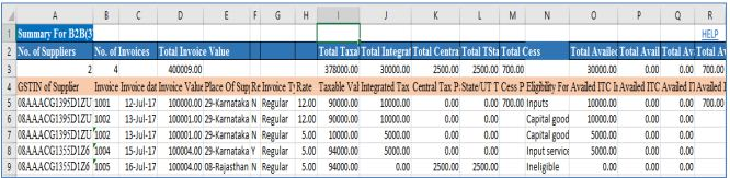 Image 6 GSTR 2 Filing using Returns Offline Tool