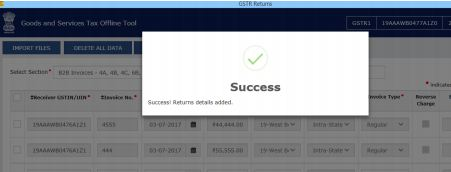 Image 6 Procedure to File GSTR 1 using Returns Offline Tool