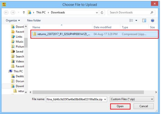 Image 7 Modify GSTR 1 Return File Using Returns Offline tool