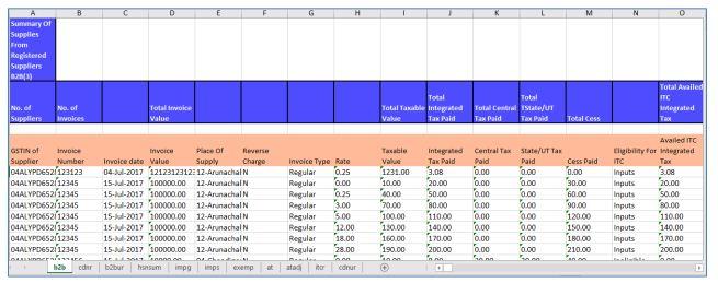 Image 8 Export to Excel Feature in Return Offline Tool
