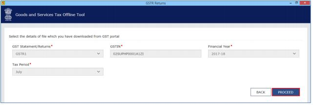 Image 8 Modify GSTR 1 Return File Using Returns Offline tool