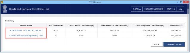 Image 8 Modifying GSTR 1A Return