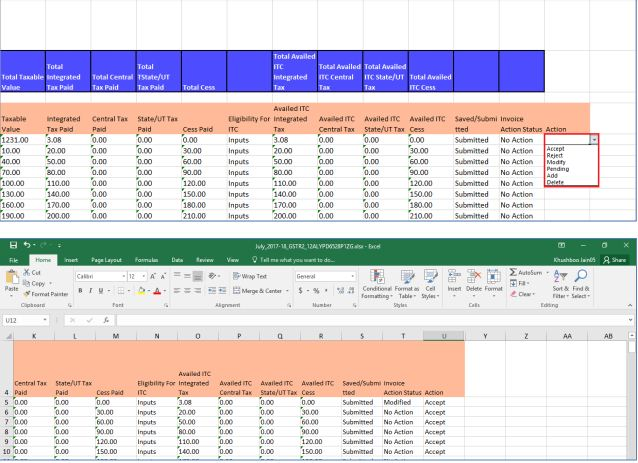 Export to Excel Feature in Return Offline Tool - IndiaFilings