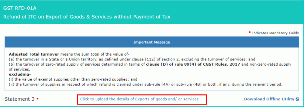 Input Tax Credit Refund - Exports- Image 4