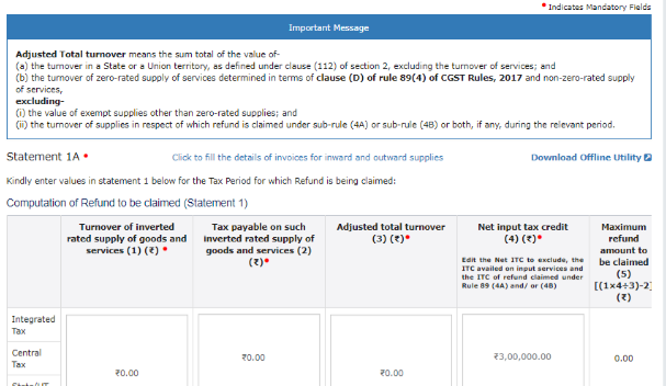 Input Tax Credit Refund - Inverted Tax Structure- Image 4
