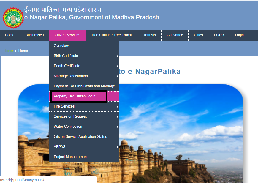 Madhya Pradesh Property Tax - Payment Procedure - IndiaFilings