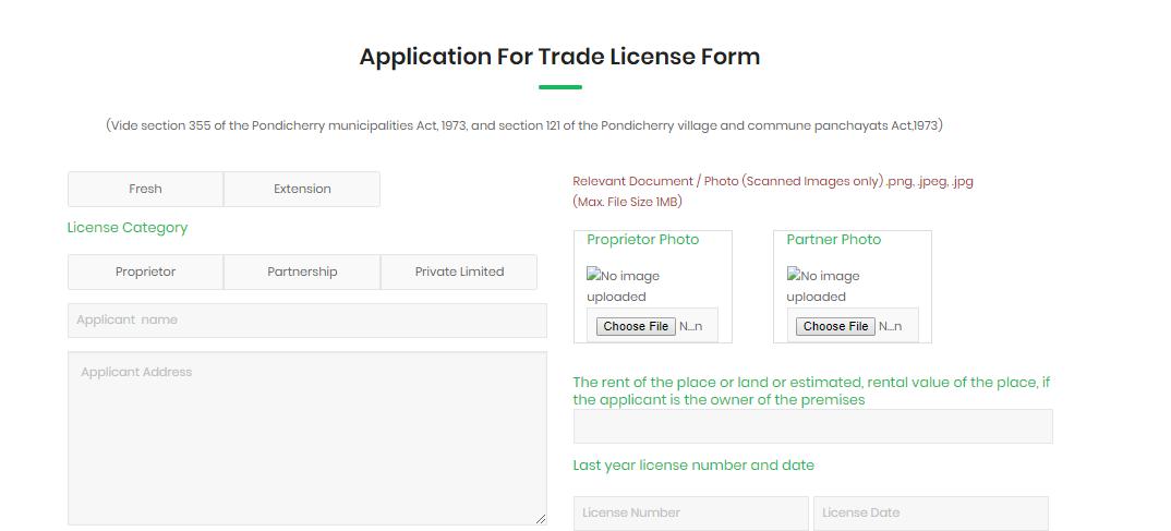Pondicherry Trade License