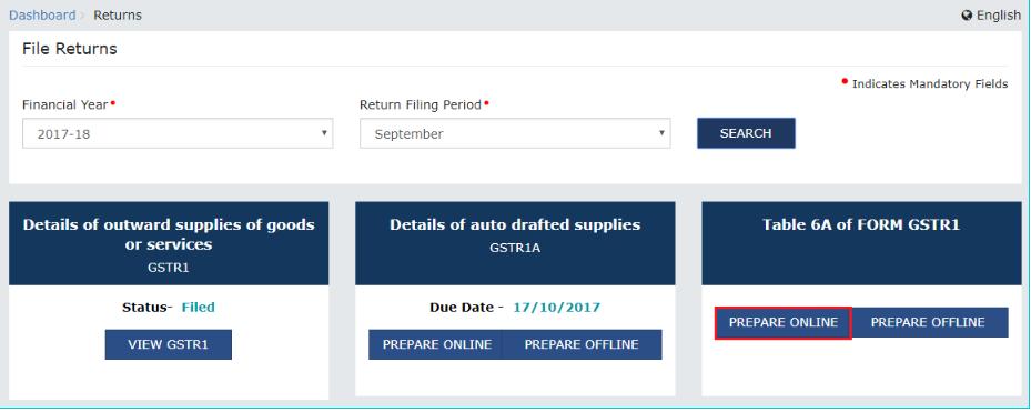 Exports-GST-Refund-Select-File-Return-Details