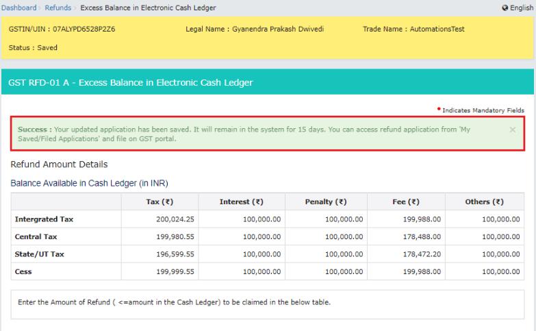GST-Refund-Electronic-Cash-Ledger-Refund-Details