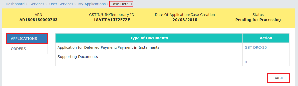 Step 1-Applying for Deferred Payment of GST