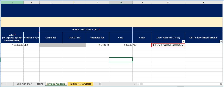 Step 10- Offline Filing of Form GST ITC-03