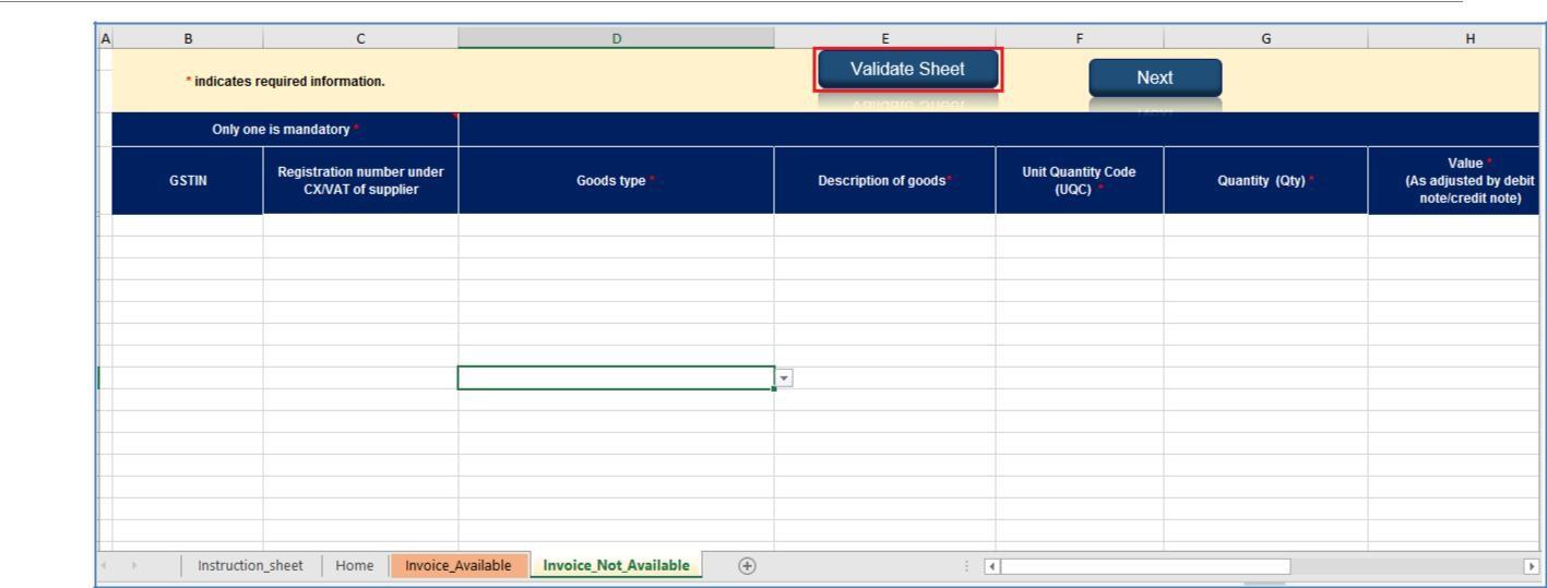Step 13- Offline Filing of Form GST ITC-03