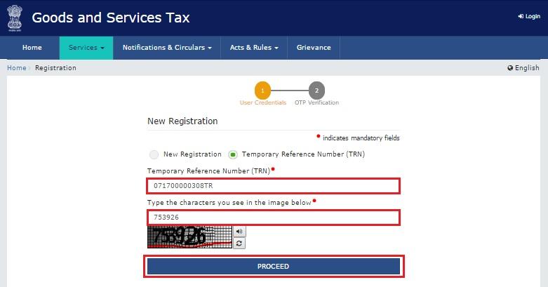 Step 2- GST Online Enrollment for Practitioners