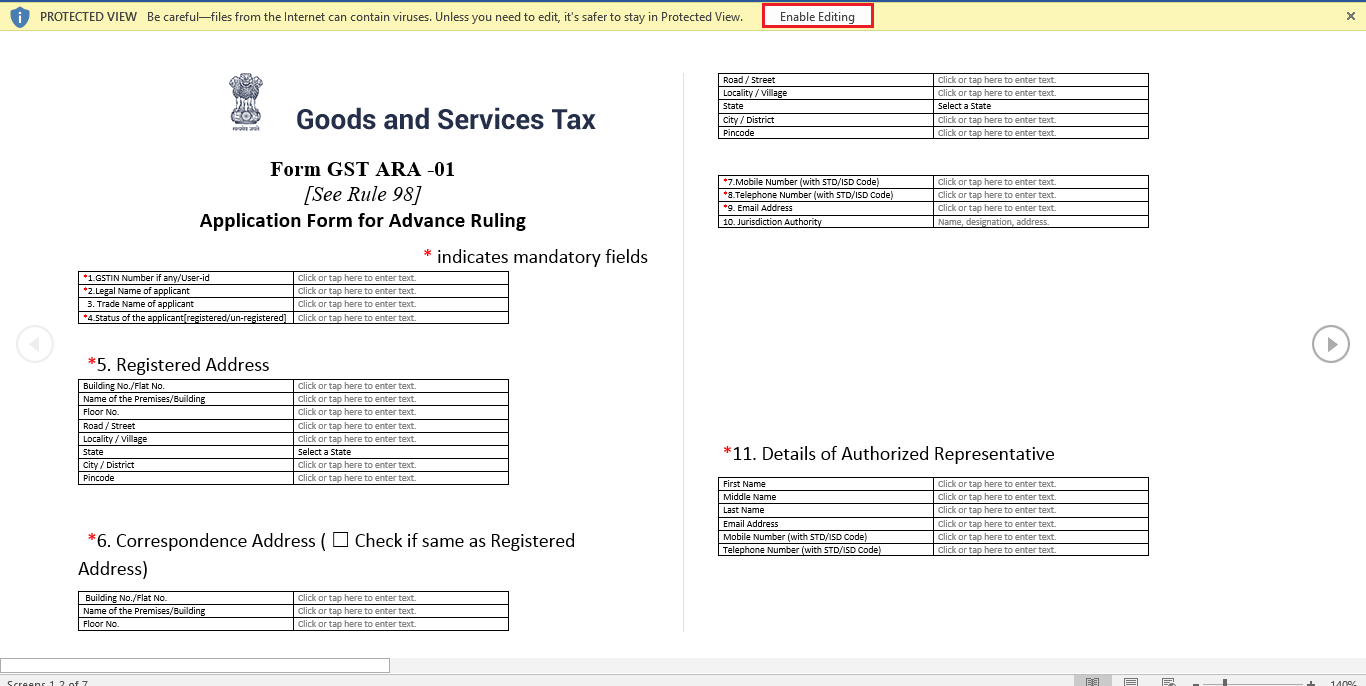 Step 23- Advance Ruling for Registered Taxpayers