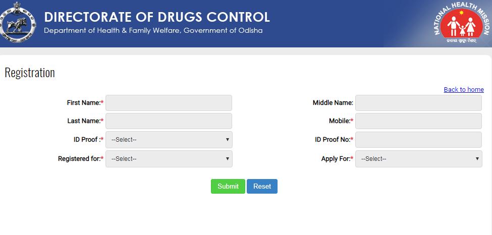 Step 3 - Odisha Drug License