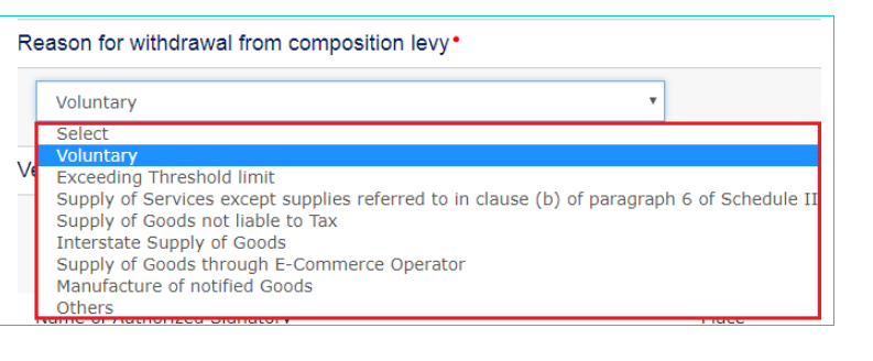 Step 7 - Withdrawal from Composition Levy