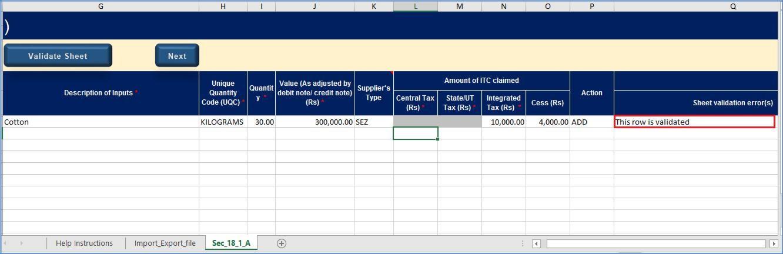 Step 8- Form GST ITC-01 Offline Tool