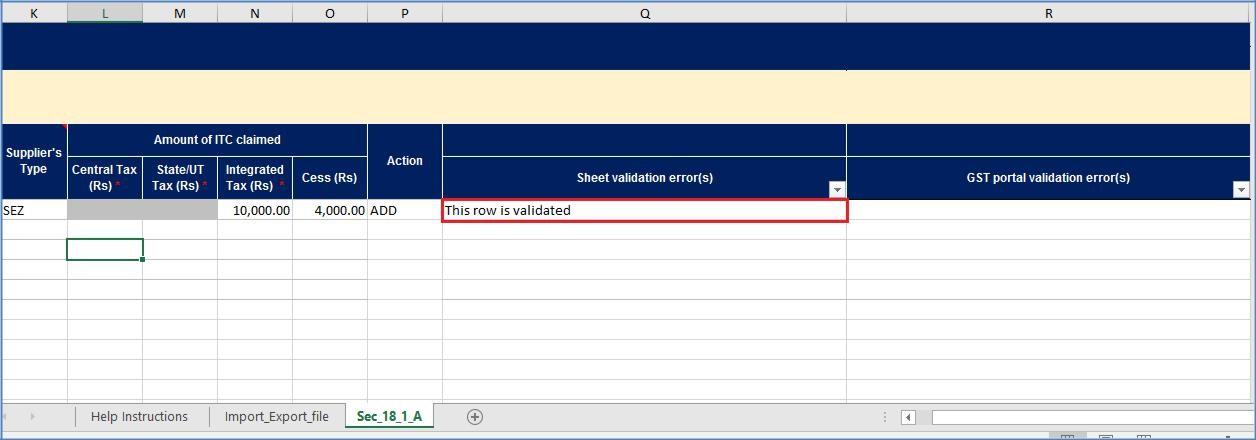 Step 9- Form GST ITC-01 Offline Tool