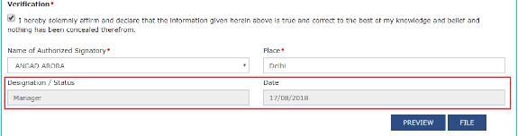 Verification details