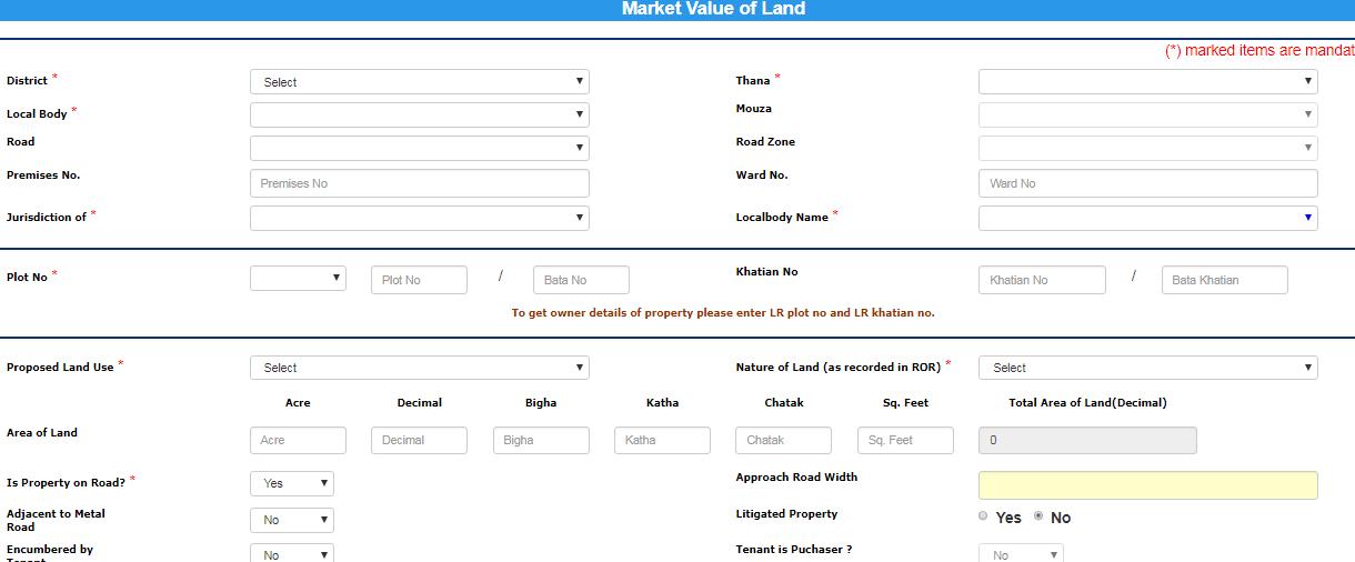 West Bengal Land Valuation - Image 1