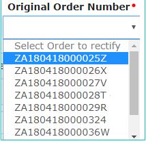 originalorder number