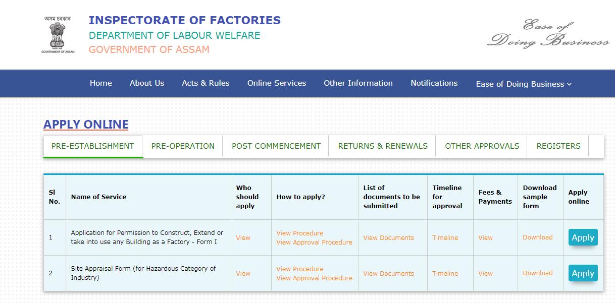 Assam Factory Registration - Image 1