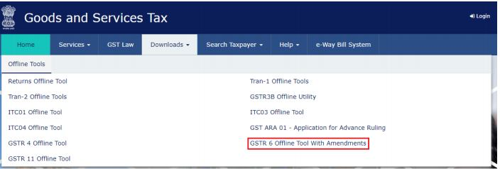 Image 1 GSTR 6 Return Offline Utility