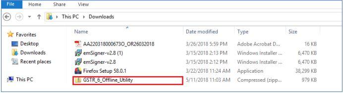 Image 2 GSTR 6 Return Offline Utility