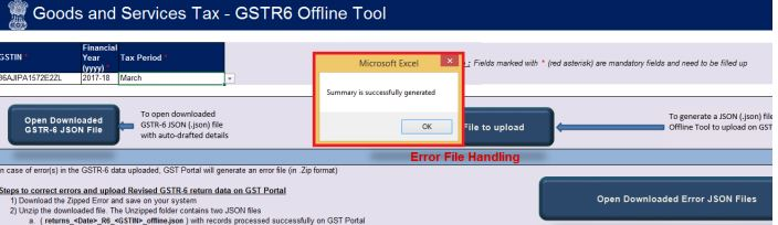 Image 20 GSTR 6 Return Offline Utility