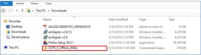 Image 6 GSTR 6 Return Offline Utility