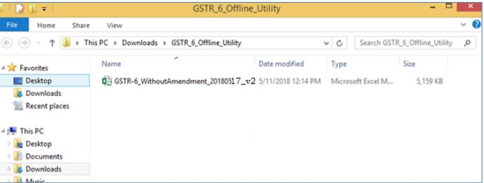 Image 7 GSTR 6 Return Offline Utility