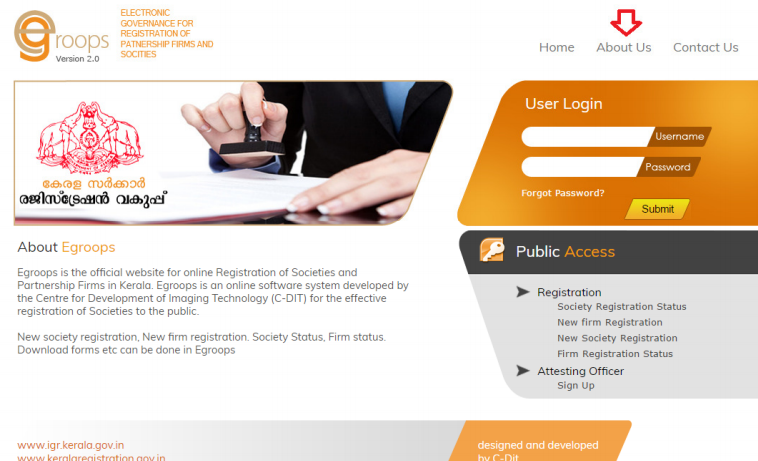 Step 1 - Kerala Society Registration