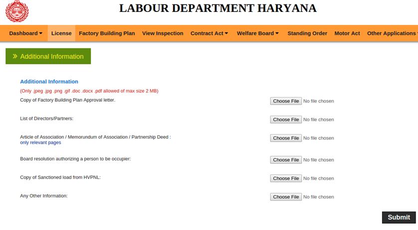 Step 16 - Haryana Factory Registration